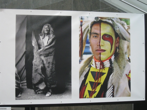 Photo exhibit of the North American Indian at Festival America