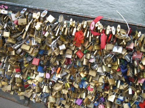 """NO! This isn't even the original """"love lock"""" bridge. Does *every* bridge in Paris now have to be hidden by locks?"""