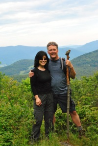 Opposites attract: the author and her boyfriend John